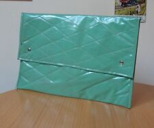 "VINTAGE SOFT GREEN PADDED BAG/FOLDER-CIRCA 1960""s/1970""s"