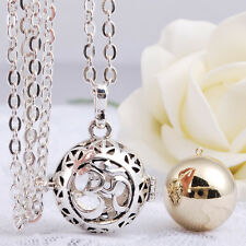 Pregnancy Baby Harmony ball chime bola pendant with 30'' silver chain necklace
