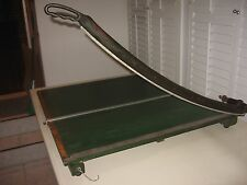 """LARGE VINTAGE 30"""" GUILLOTINE PAPER CUTTER CAST IRON"""
