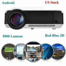New LED 86C Wifi 5000 Lumens Full HD Red Blue 3D HDMI Home Theater Projector BT