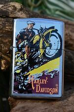 Zippo Lighter - Harley Davidson Vintage 1920's Motorcycle Poster - # 200HD H294