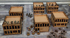 Wargames scenery 6 bâtiments modernes 40K 28mm bolt action batman terrain