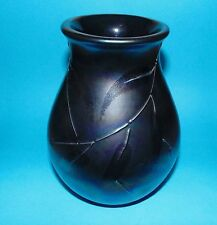 Poole pottery vase   'Leaf pattern'  1st Quality  (7366)