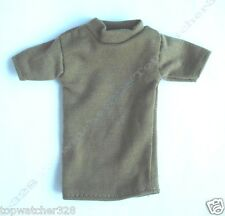 1/6 Action Figure Accessories-Beige Short Sleeves T-Shirt