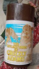 VINTAGE plastic 1977 THE LIFE AND TIMES OF GRIZZLY ADAMS THERMOS Dan Haggerty