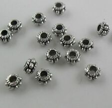 190Pcs Tibetan Silver exquisite Spacer Beads 5x3mm