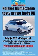 Polskie Tlumaczenie Testy Prawo Jazdy UK - Samochody Osobowe (Polish Translation