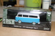GREENLIGHT Collectibles - LOST - 1971 VW Type 2  DHARMA VAN - 1:43 Scale - Chase
