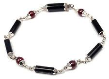 Authentic! Cartier Le Baiser Du Dragon 18k White Gold Black Onyx Ruby Bracelet