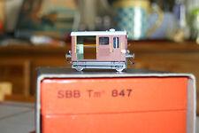H.R.F. : DRAISINE d'entretien des voies Tm  847 des SBB/CFF en laiton . Ho 1/87.