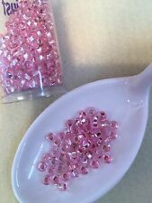 Czech Glass Seed Bead Size 6/0 Silver Lined Pink