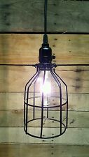 Metal Bulb Guard Lamp Light Cage Pendant Hanging Industrial Vintage