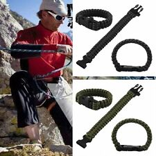 Camping Emergency Rope 550 Paracord Parachute Cord Survival Bracelet Buckle NEW