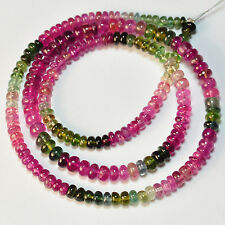 3mm-4.5mm Tourmaline Smooth Rondelle Bead 16 inch strand
