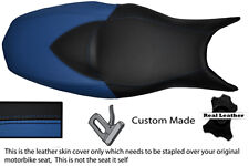 BLUE & BLACK CUSTOM FITS BMW F 800 R F 800 S F 800 ST DUAL LEATHER SEAT COVER
