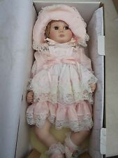 """BABY BECKY Porcelain 18"""" Girl Doll by Dina Rose World Gallery DR-01 in box"""
