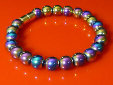 Rainbow Hematite Bracelet Magnetic Clasp