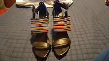 UNITED NUDE Women's Elastic Remix Lo Curacao Slides Sandal SIZE US 8