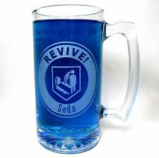 Revive Soda Etched Glass Beer Mug. Handmade COD Zombies Inspired Quick Revive