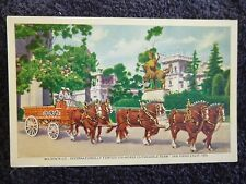 1930's Wilson Co. Six-Horse Clydesdale Team in San Diego, Ca California PC