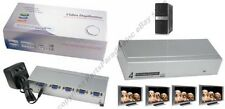 Lot4 4way/Port SVGA/VGA Amplifier/Amp Duplicater/Multiplexor/Splitter PC/TV/LCD
