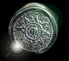 Tribal Mayan Aztec Calendar Sun Ring Sterling silver