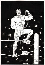 ANTHONY CACIOPPO~CLASSIC WRESTLERS #5~JUNKYARD DOG PINUP~NEW ART!