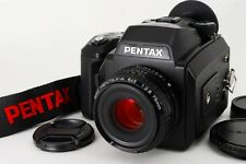 Near MINT Pentax 645N Body w/ A 75mm F2.8 Lens 120 Film Back Strap from Japan