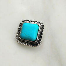 Fashion Jewelry Turquoise Snaps Chunk Charm Button For Noosa Leather Bracelets @