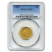 1858 $3 Gold Princess Au-53 Pcgs - Sku #132312