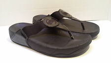 Fitflop Women's US 8 Eu 39 Black Patent Leather Sandals Shoes