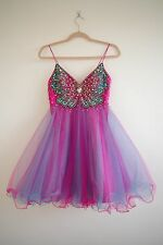 Girls, jewelled butterfly corset, Forever Unique prom dress, size 10