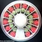 2 Size 3D Rose Flowers Design Resin Nail Art Decoration #02027GP FREE P&P