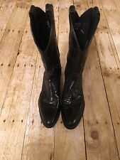 Vintage Justin cowgirl boots lizard & leather SZ/7B
