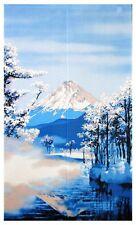 JAPANESE Noren Curtain NEW FUJI MOUNTAIN  WINTER FUJI FUYUFUJI MADE IN JAPAN