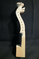hand carved  fancy unfinished Norwegian fiddle neck, 4*4 strings violin neck