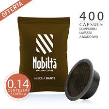 400 CAPSULE 100% COMPATIBILI LAVAZZA A MODO MIO Caffè Nobiltà Miscela Dante