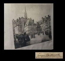 [BRETAGNE FINISTERE] MAUDEMOUK / BALDENWECK - La Place terne au duc à Quimper.