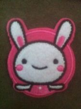 Embroidered Iron On/Sew On White Bunny Rabbit Patch Badge for Kids