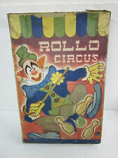 vintage rollo circus parlor rolling skill game ATW american toy works 1930's