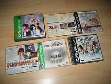 Final Fantasy IX 9 VIII 8 Origins Tactics Playstation Ps1 Games Complete