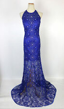 NEW $750 Jovani Lace Royal Prom Formal Long Gown Evening Homecoming Size 6 Dress