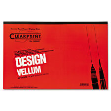 Clearprint Design Vellum Paper 16lb White 11 x 17 50 Sheets/Pad 10001416