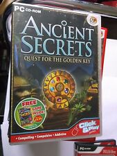 ANCIENT SECRETS QUEST FOR THE GOLDEN KEY  HIDDEN OBJECT PC GAME