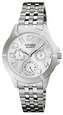 Citizen ED8100-51A  Women's Stainless Steel Mid-Size Multifunction Analog Watch