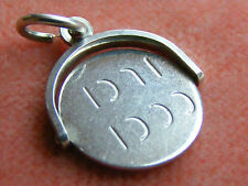 VINTAGE STERLING SILVER CHARM GOOD LUCK SPINNING FOB