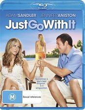 Just Go With It (Blu-ray, 2011) Adam Sandler, Jennifer Aniston, Brooklyn Decker