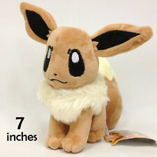 "Pokemon Eevee Plush Soft Toys Stuffed Animal Cuddly Character Doll Teddy 7"" NWT"