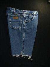 Wrangler Vintage CUTOFF JEAN SHORTS Cut Off High Waisted W 35 MEASURED Long