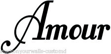 AMOUR FRENCH LOVE  WALL DECAL STICKER KITCHEN BEDROOM LIVING ROOM MANY COLORS